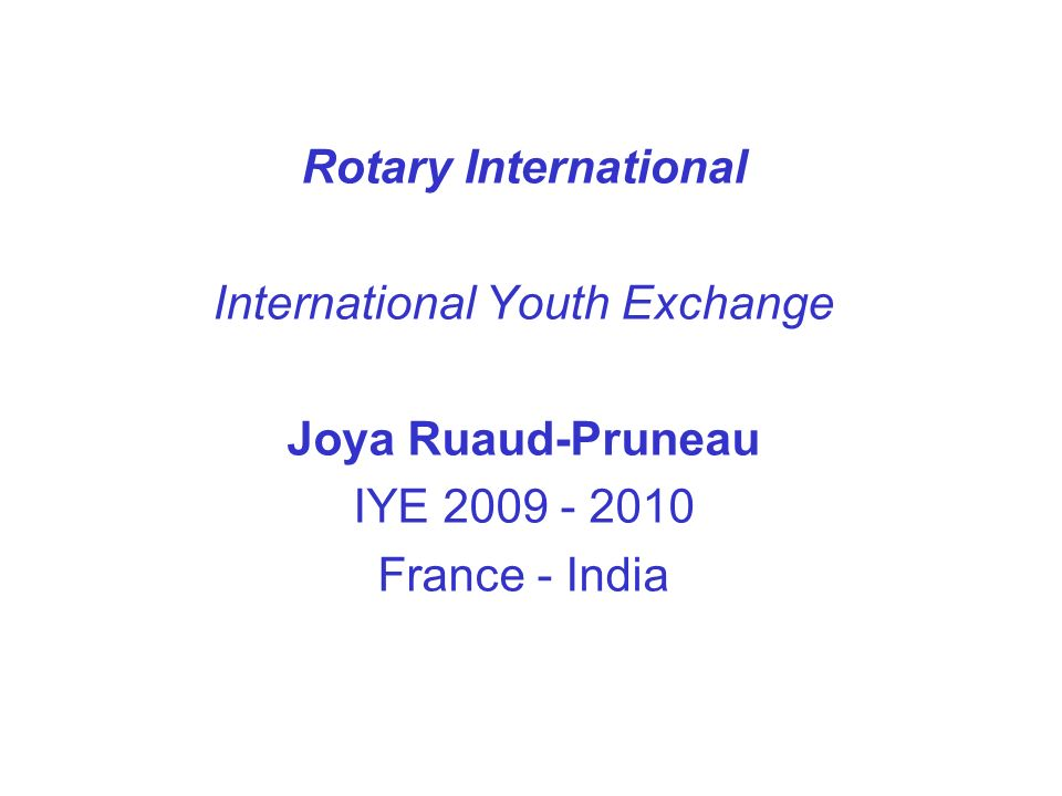 International Youth Exchange