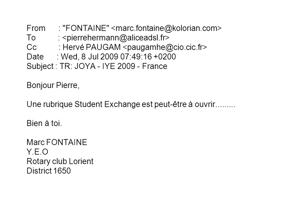 From : FONTAINE <marc. fontaine@kolorian