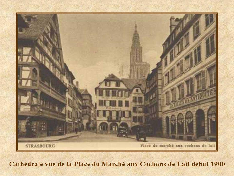 Cathédrale vue de la Place du Marché aux Cochons de Lait début 1900