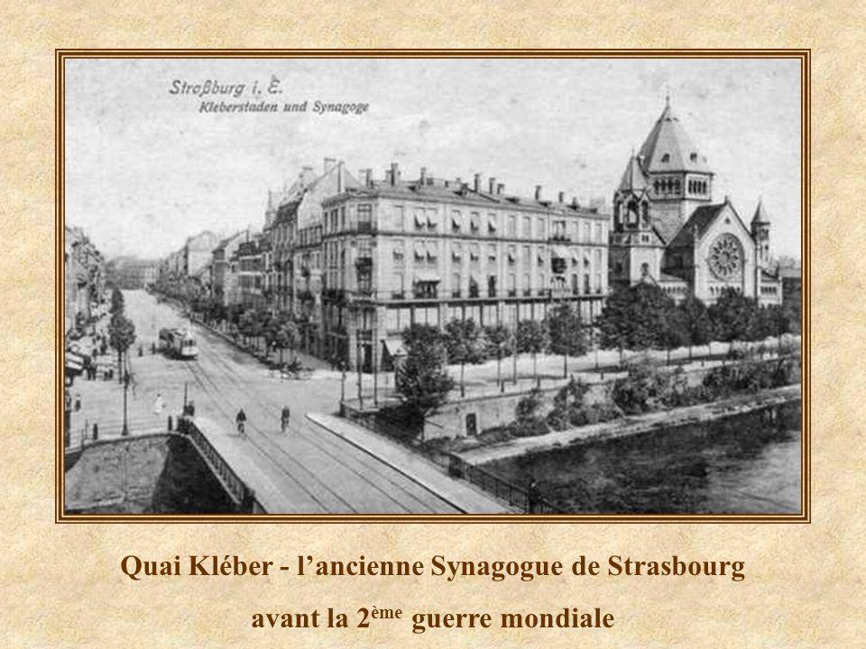Quai Kléber - l'ancienne Synagogue de Strasbourg
