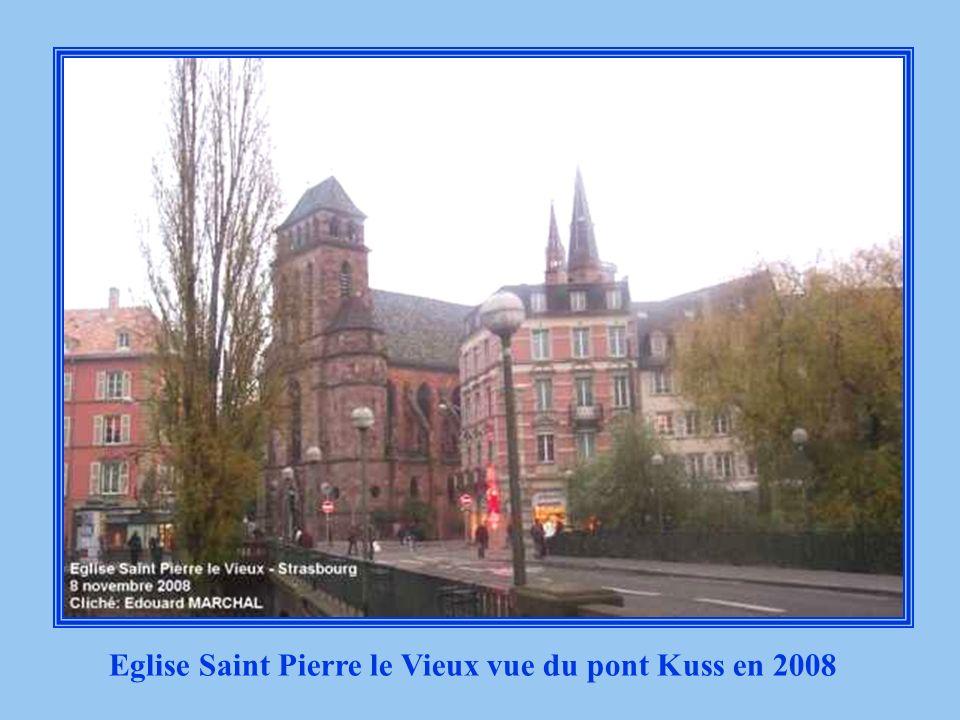 Eglise Saint Pierre le Vieux vue du pont Kuss en 2008