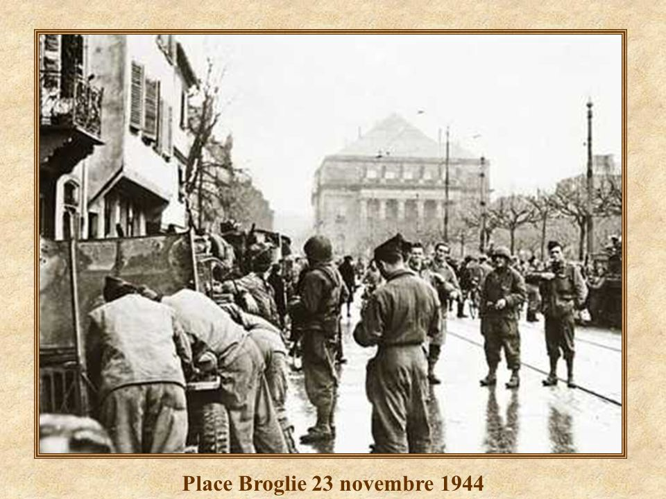 Place Broglie 23 novembre 1944
