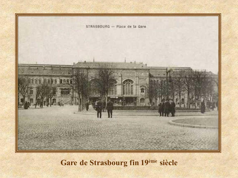 Gare de Strasbourg fin 19ème siècle