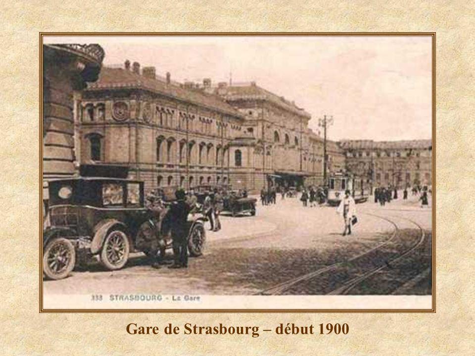 Gare de Strasbourg – début 1900