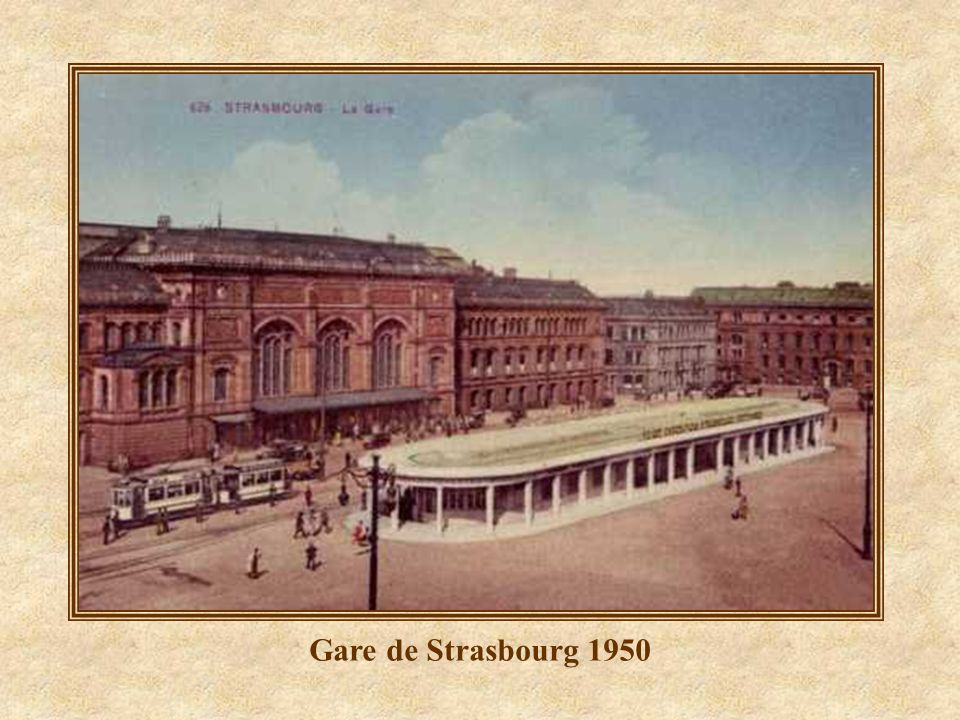 Gare de Strasbourg 1950