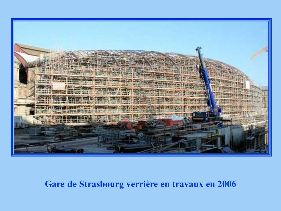 Gare de Strasbourg verrière en travaux en 2006
