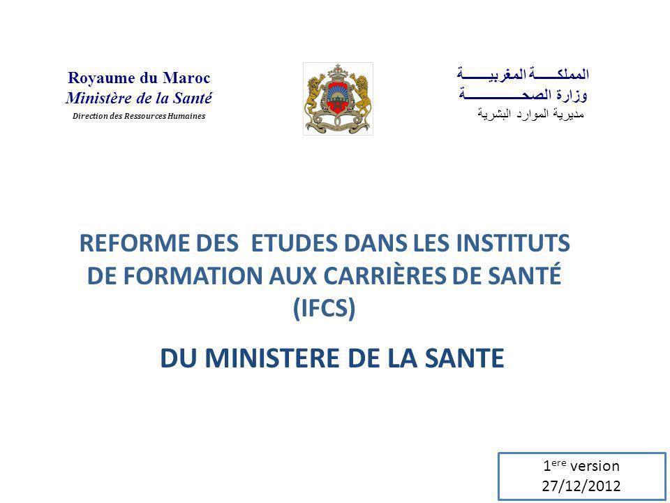 DU MINISTERE DE LA SANTE