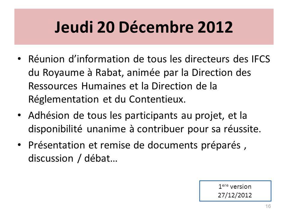 Jeudi 20 Décembre 2012