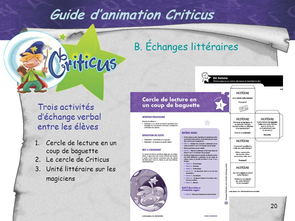 Guide d'animation Criticus