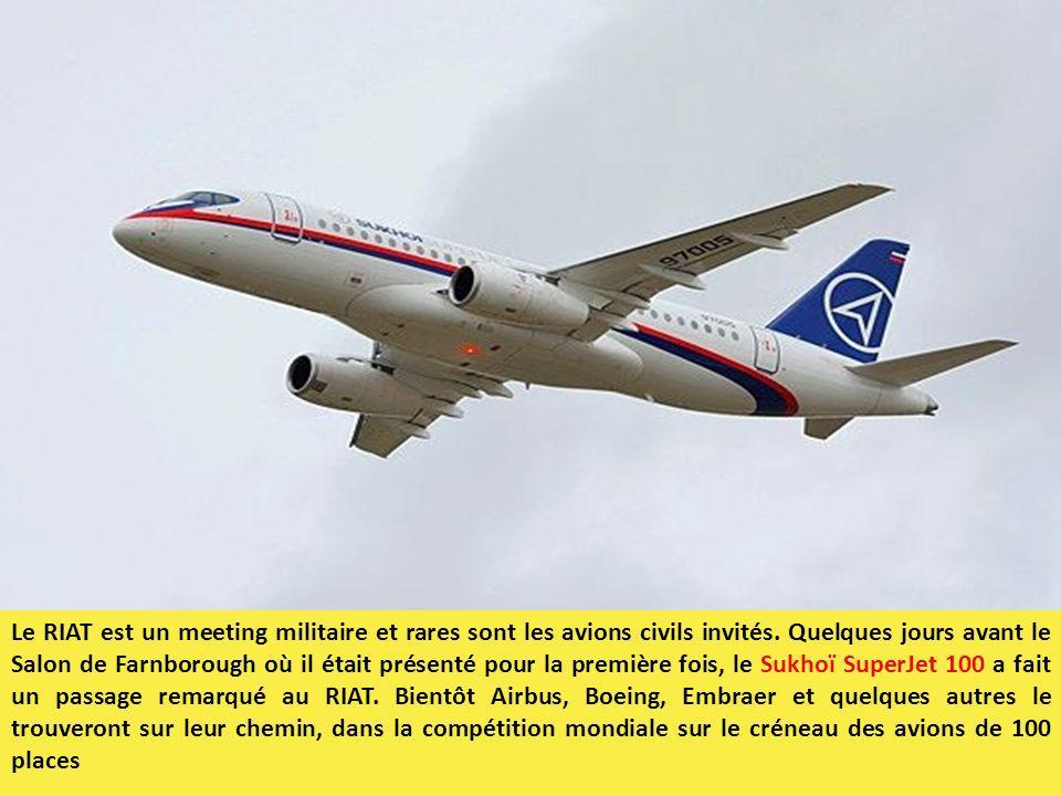 Le RIAT est un meeting militaire et rares sont les avions civils invités.