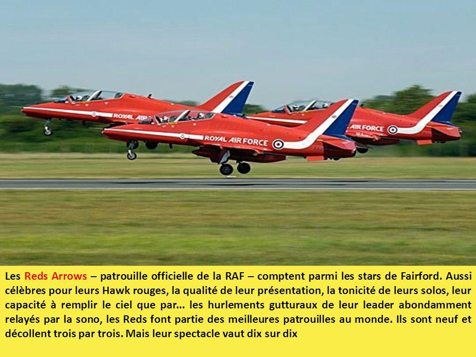 Les Reds Arrows – patrouille officielle de la RAF – comptent parmi les stars de Fairford.