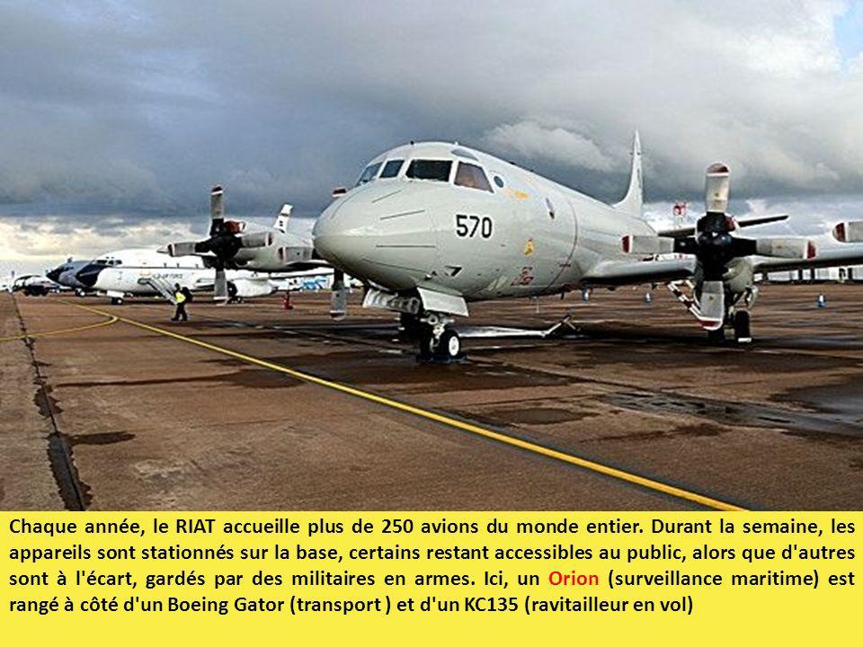 Chaque année, le RIAT accueille plus de 250 avions du monde entier