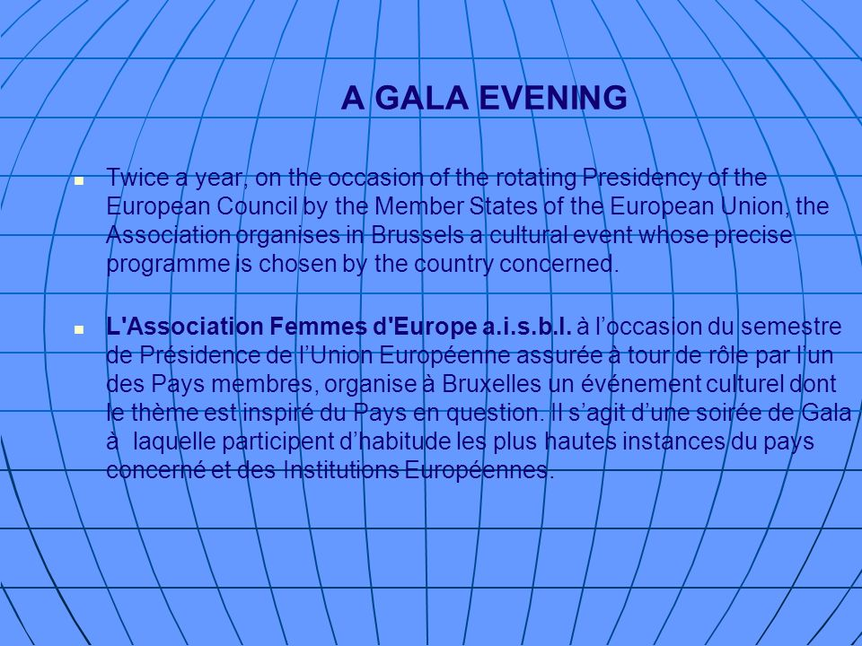A GALA EVENING