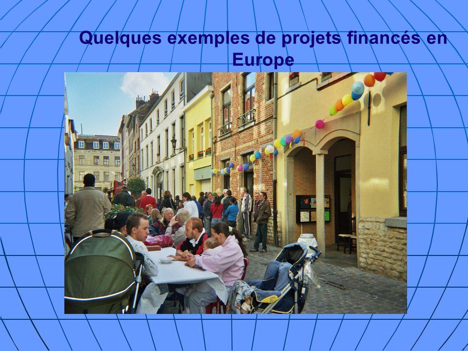 Quelques exemples de projets financés en Europe