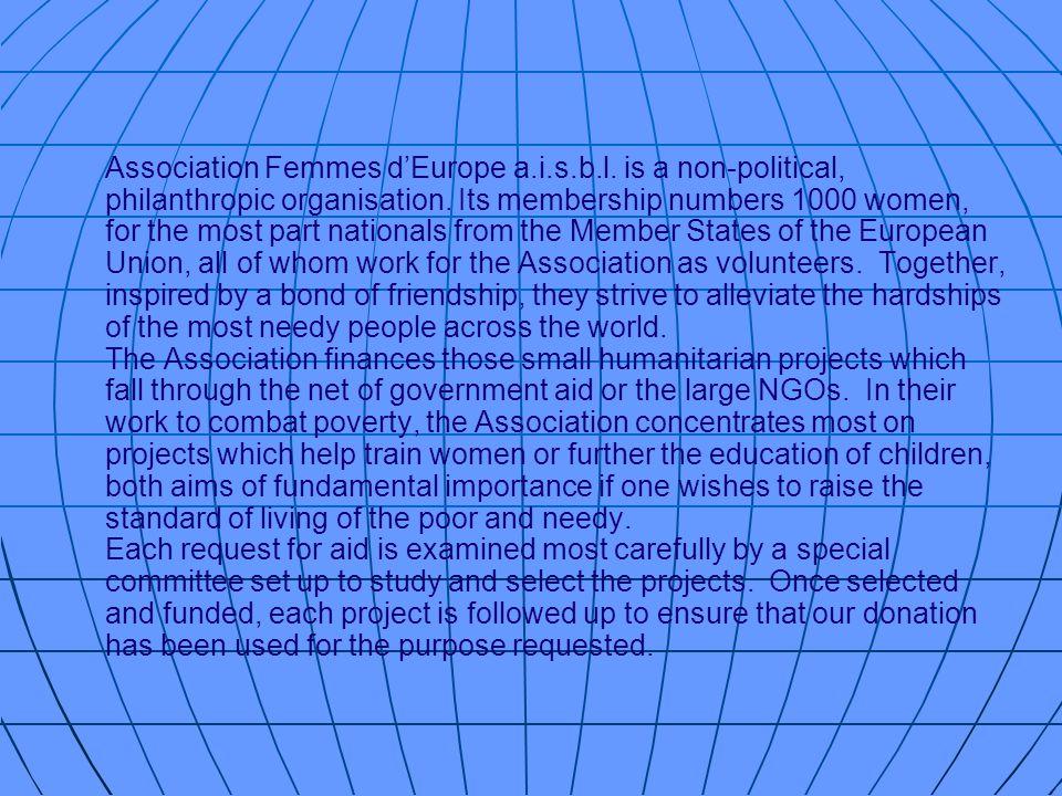Association Femmes d'Europe a. i. s. b. l