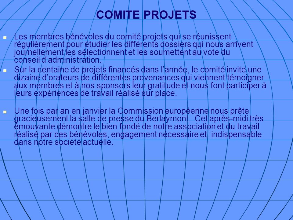 COMITE PROJETS