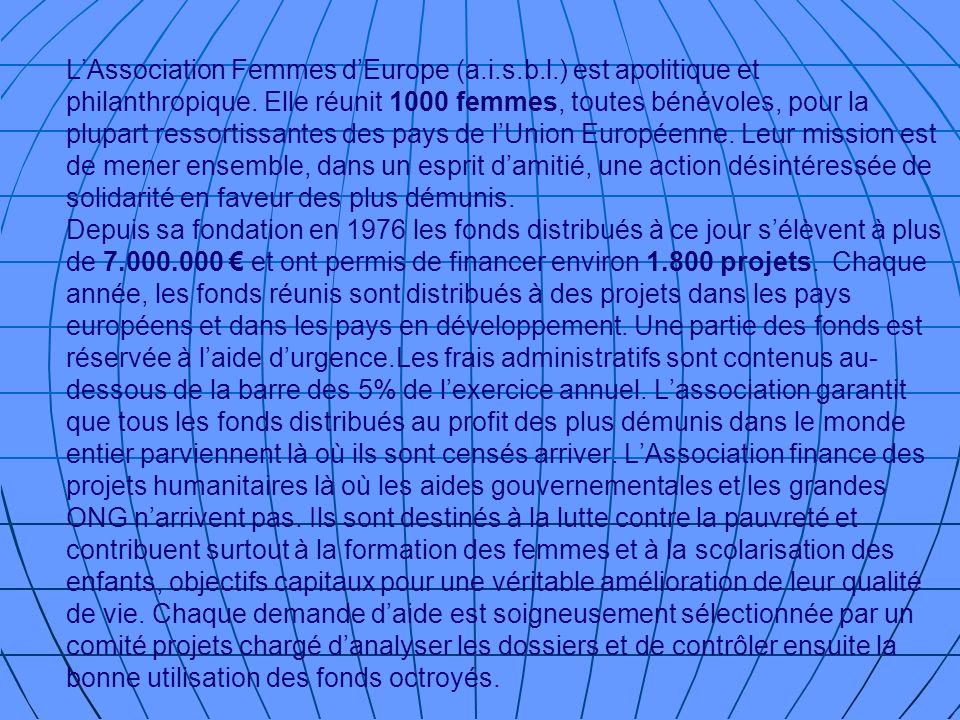 L'Association Femmes d'Europe (a. i. s. b. l