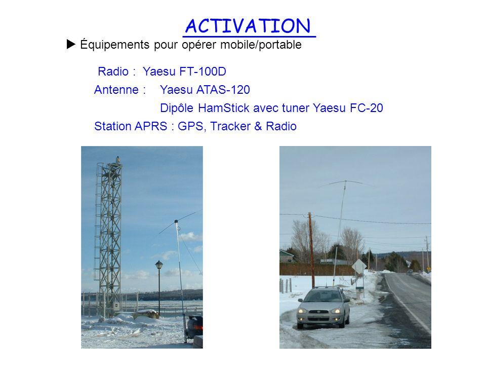 ACTIVATION Équipements pour opérer mobile/portable