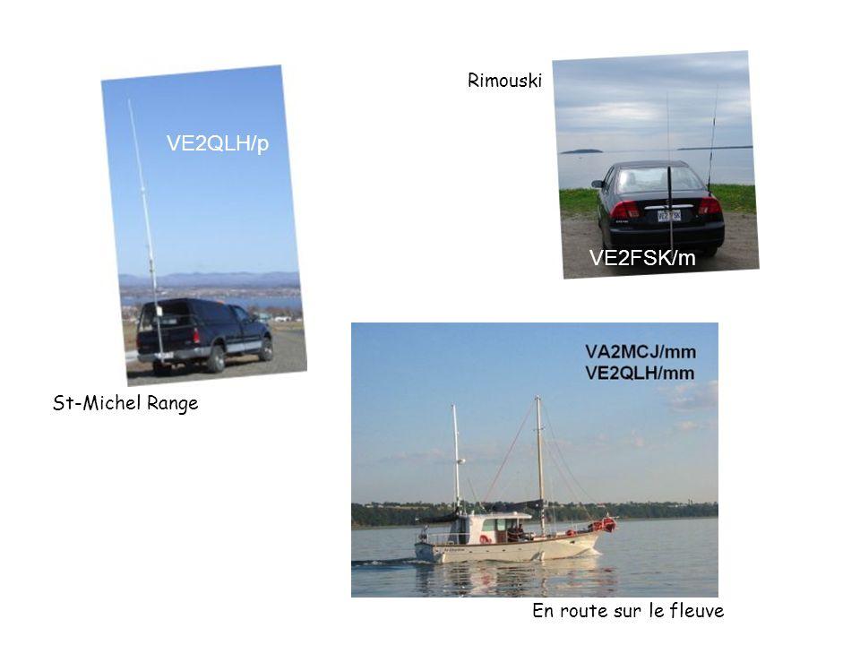 Rimouski VE2QLH/p VE2FSK/m St-Michel Range En route sur le fleuve