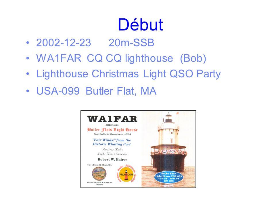 Début 2002-12-23 20m-SSB WA1FAR CQ CQ lighthouse (Bob)
