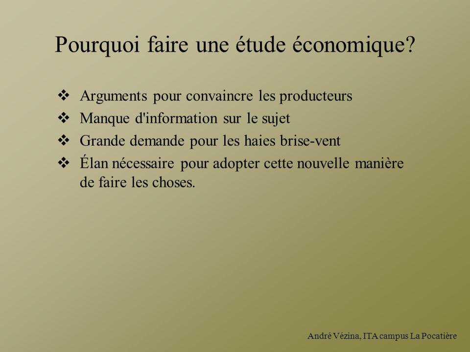 Pourquoi faire une étude économique
