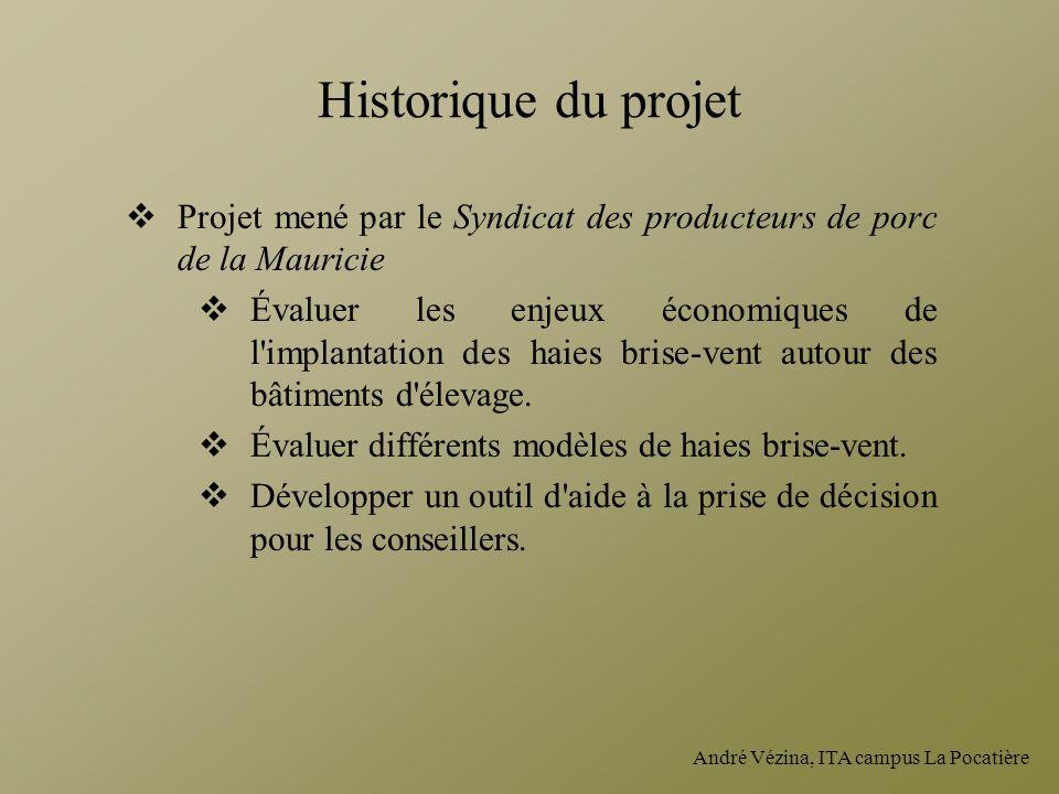 Historique du projet Projet mené par le Syndicat des producteurs de porc de la Mauricie.