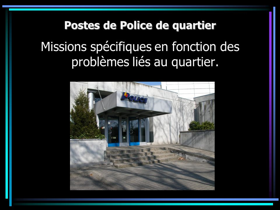 Postes de Police de quartier