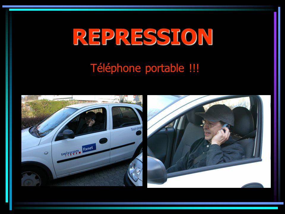 REPRESSION Téléphone portable !!!