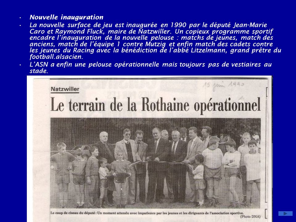 Nouvelle inauguration