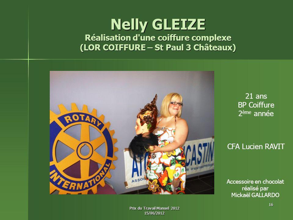Nelly GLEIZE Réalisation d une coiffure complexe