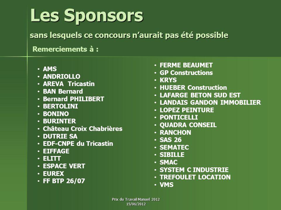 Les Sponsors Remerciements à : FERME BEAUMET GP Constructions KRYS