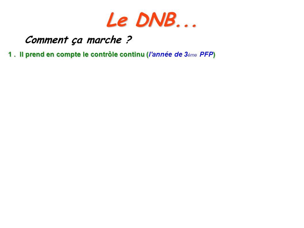Le DNB... Comment ça marche