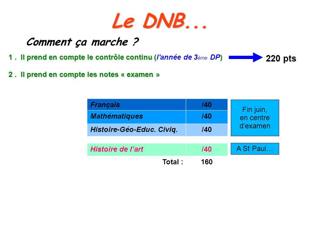 Le DNB... Comment ça marche 220 pts
