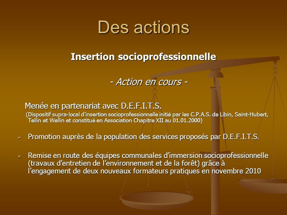 Insertion socioprofessionnelle