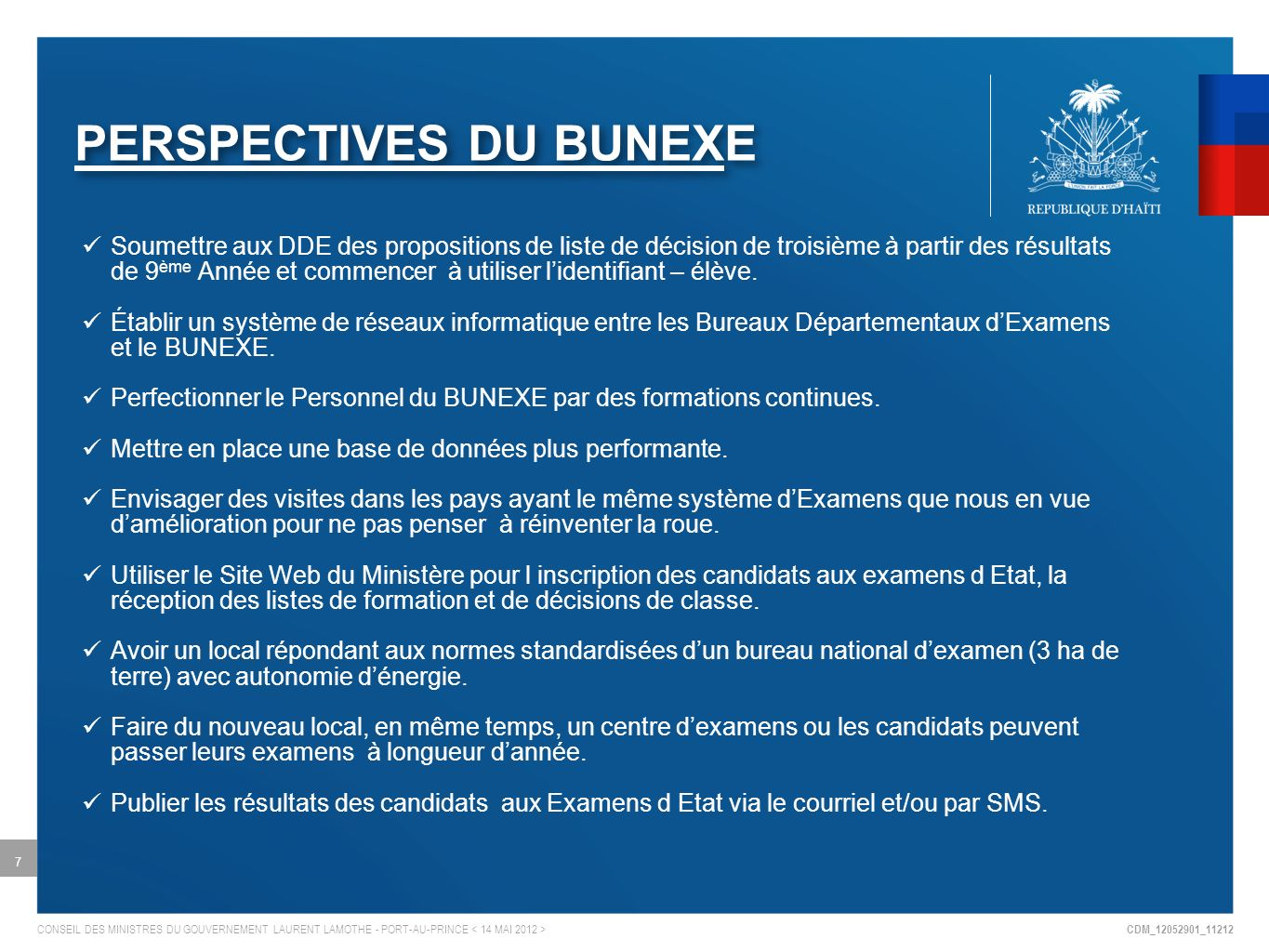 PERSPECTIVES DU BUNEXE