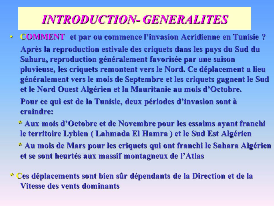 INTRODUCTION- GENERALITES