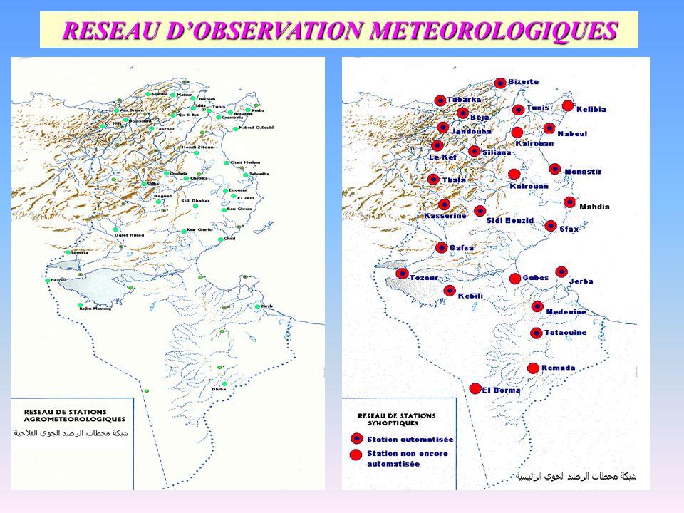 RESEAU D'OBSERVATION METEOROLOGIQUES