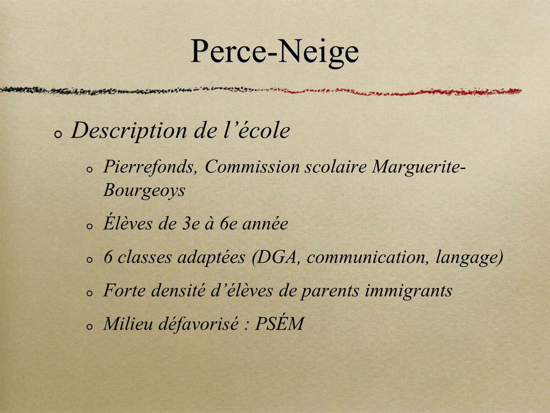 Perce-Neige Description de l'école