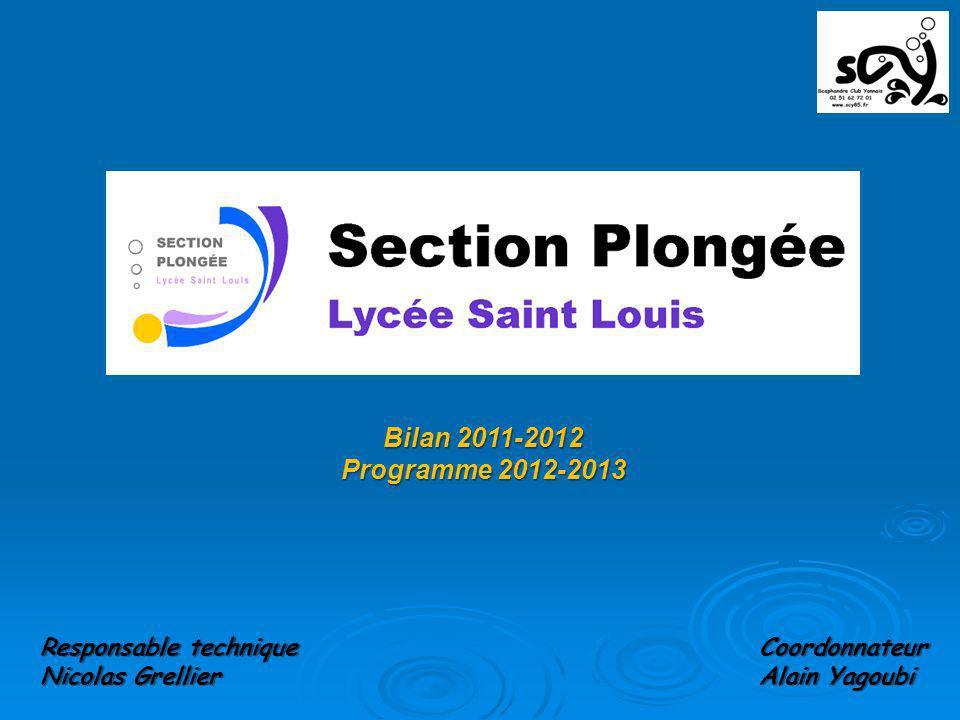 Bilan 2011-2012 Programme 2012-2013 Coordonnateur