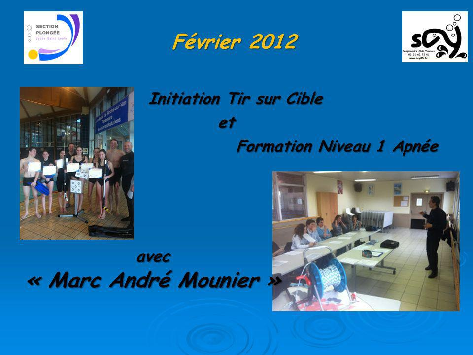 « Marc André Mounier » Février 2012 Initiation Tir sur Cible et