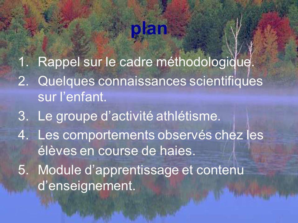 plan Rappel sur le cadre méthodologique.