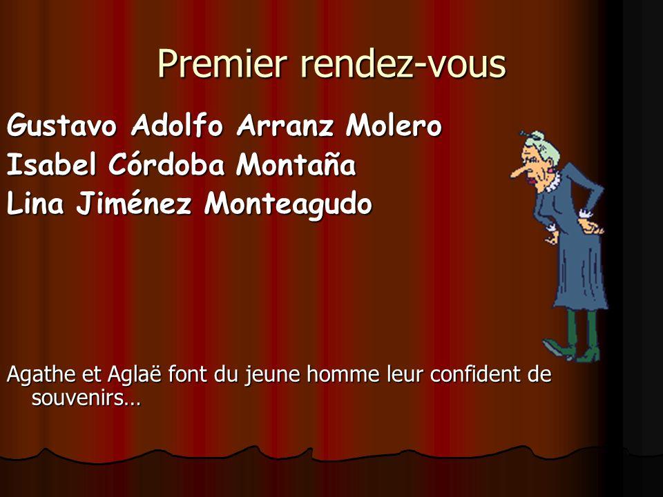 Premier rendez-vous Gustavo Adolfo Arranz Molero