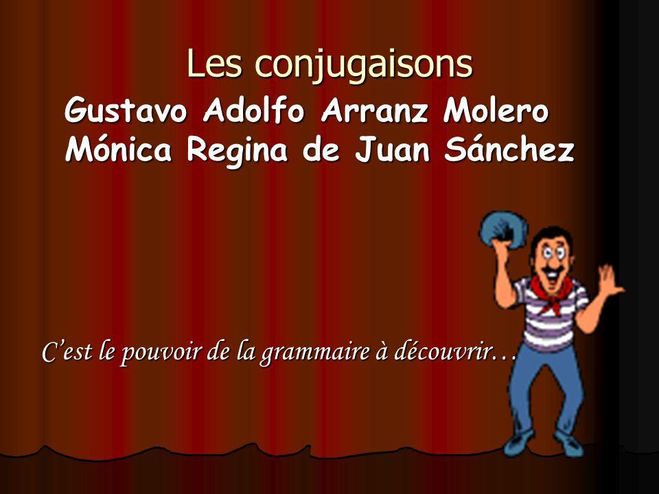 Les conjugaisons Gustavo Adolfo Arranz Molero Mónica Regina de Juan Sánchez.