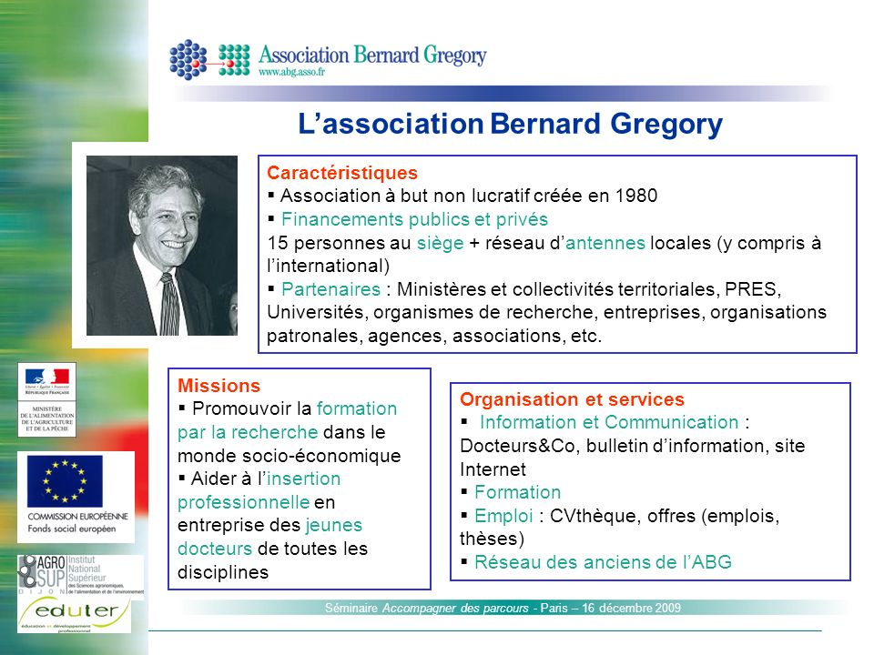 L'association Bernard Gregory