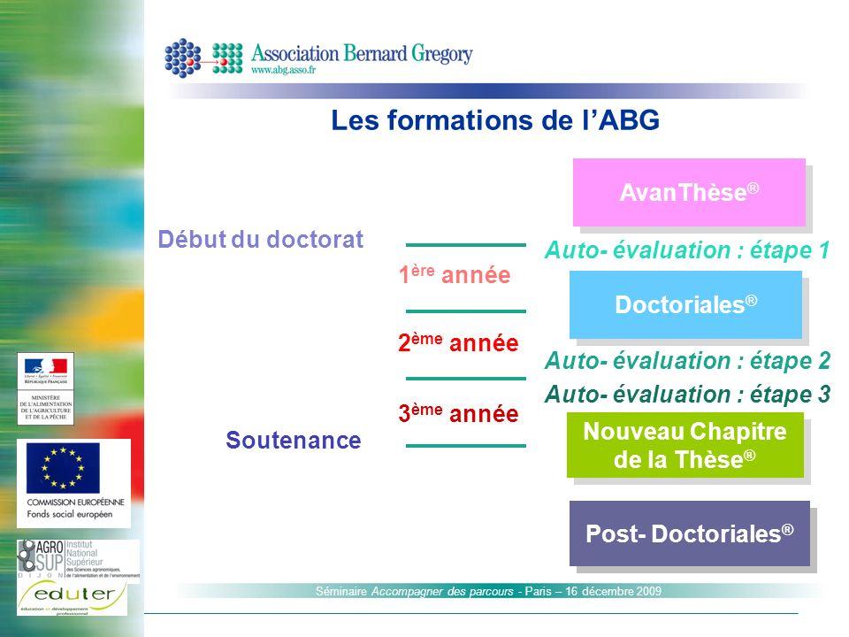 Les formations de l'ABG