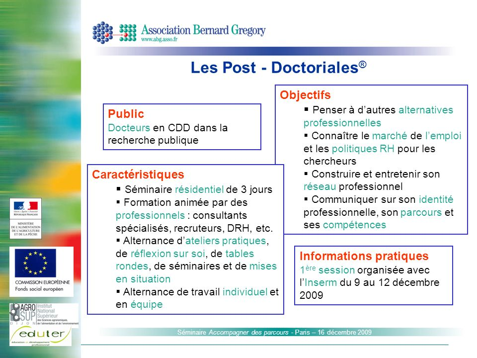 Les Post - Doctoriales®