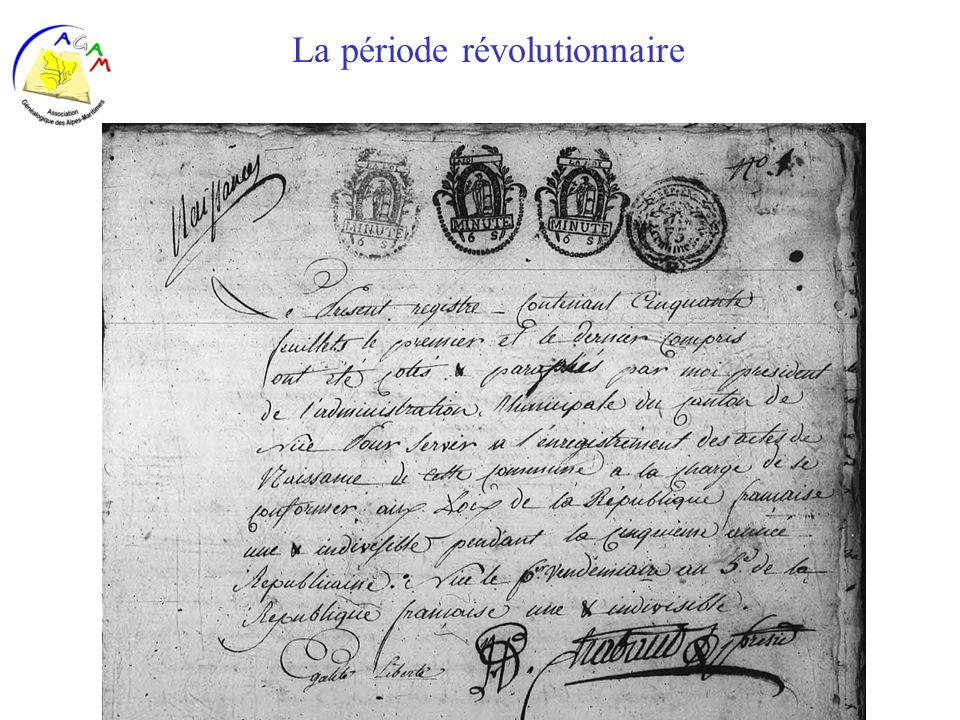 La période révolutionnaire