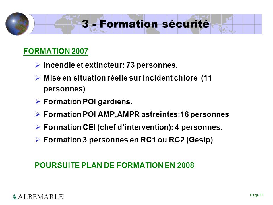 3 - Formation sécurité FORMATION 2007