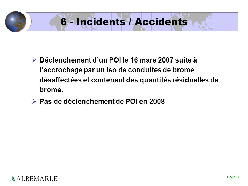 6 - Incidents / Accidents