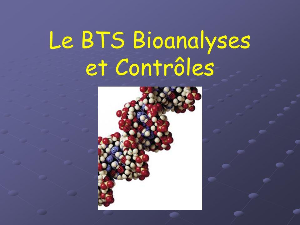 Le BTS Bioanalyses et Contrôles